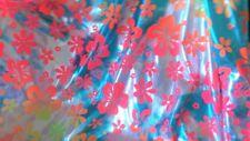 """Material de la tela spandex Metálico Floral 45"""" 4-way Stretch"""
