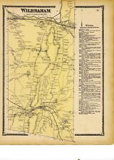 1870 map of Wilbraham, Mass. from Atlas of Hampden County w/family names