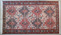 Hand Knotted Persian Kilim, Made with natural wool and Silk, 4' x 7'