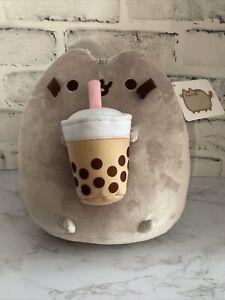 "Pusheen Boba Tea 9"" Plush Gund Bubble Tea Squish Stuffed Animal Cat NWT New"