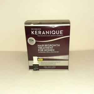 New Keranique Hair Regrowth Treatment 2% Minoxidil 90 Day Supply EXP 10/2021