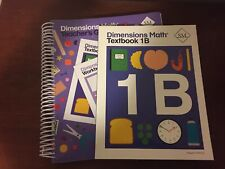 "Lot Of 2 Singapore Math ""Dimensions"" 1B: Textbook + Teachers Guide"