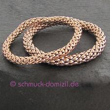 Quoins Armband elastisch - Edelstahl ROTGOLD verg. - ONE SIZE Durchmesser 6 mm
