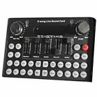 Live Sound Card, F9 Universal Voice Change Audio Mixer Adapter Card with 18