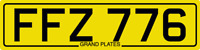 DATELESS PRIVATE NUMBER PLATE FFZ 776 CHERISHED REG COVER NON DATING CHEAP FF