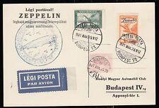 Zeppelin 1931,Landungsfahrt n. Ungarn, ungar. Post 28.3.31, Sieger 102 Ba