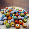 100pcs Vintage Loose Ceramic Porcelain Beads Charms Jewelry Making High Quality