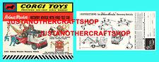 Corgi Toys 1142 Holmes Wrecker Ford Cab Instruction Leaflet & Poster Shop Sign
