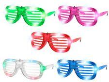 Blinkende LED Atzenbrille Shutter Shades ohne Glas viele Farben
