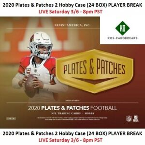 Charles Woodson Raiders 2020 Plates & Patches 2 Case 24 Box PLAYER BREAK