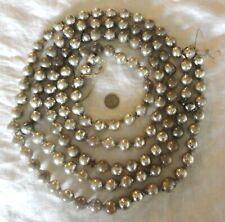 "Vintage Christmas Mercury Glass Bead Garland Silver Large 96"" - 8 Feet!"