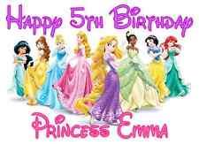 "Disney Princess Birthday Iron On Transfer 5""x6.75"", for LIGHT Colored Fabrics"