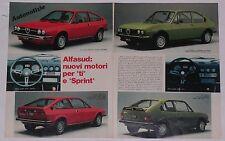 Article Articolo 1978 ALFA ROMEO ALFASUD TI / ALFASUD SPRINT