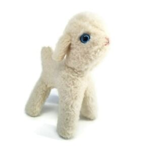 Lamb Plush Vintage Douglas Cuddle Toys made in USA White Sheep Stuffed Animal