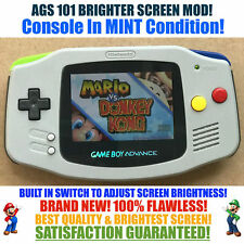Nintendo Game Boy Advance GBA SNES System AGS 101 Brighter Backlit Mod SWITCH!