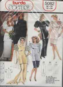Burda Couture Pattern 5082 Variety of Bridal Wear NEW, Sealed 12-24