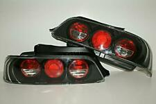 1997- Honda Prelude Clear Black Tail Lights Rear Lamps PAIR