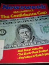 NEWSWEEK MAGAZINE SEPTEMBER 1981 REAGANOMICS THE CONFIDENCE GAP WALL STREET