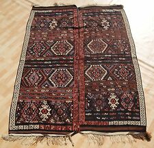 Decorative Kurdish Kilim Hand Woven Rectangle Wool Brown Kilim Area Rugs 5X7ft