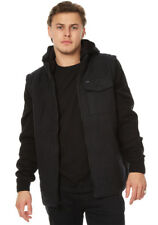 "NEW + TAG RVCA MENS ""BREAKER PUFF"" (L) HOODED JACKET JUMPER HOODIE COAT BLACK"