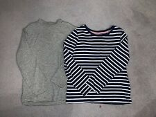 Zara M&S Two Girls Long Sleeve Striped Tops Age 2-3 Years