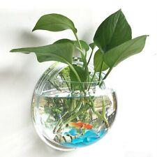 Wall Mount Fish Tank Hanging Aquarium Mounted Plant Bowl Bubble Acrylic Home Pot