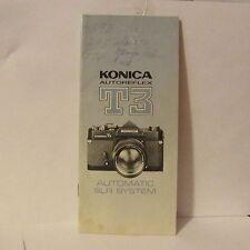 1973  Konica Autoreflex T3 Automatic SLR Camera System Brochure 7420005