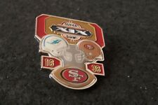 SB Super Bowl 19 XIX Miami Dolphins SF San Francisco 49ers pin Bradford Exchange