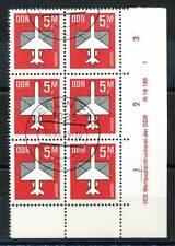 614385) DDR ER 6erBlock Nr.2967 gest. mit Druckvermerk Flugpost