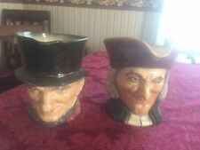 2 Vintage Royal Doulton Toby Character Jugs Vicar Of Bray And John Peel