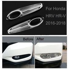Chrome Front Fog Light Lamp Frame Cover Trim Strip For Honda HRV HR-V 2016-2018