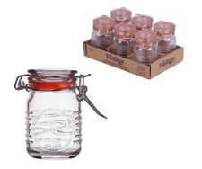 12x Pack of Classic Kitchen Mini Airtight Storage Container Glass Jars 70ml