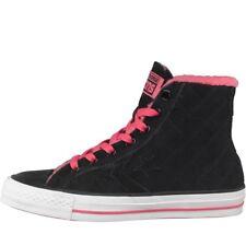 Converse STAR PLAYER Hi Scarpe da ginnastica collo in pelliccia nero UK 4 EU 36.5 US 6 nuovo con scatola