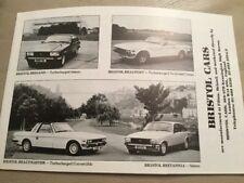 Bristol Cars Car Brochure - 1984