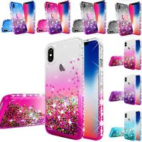 Case for iPhone XS Max Shockproof Luxury Liquid Glitter Bling Phone Cover