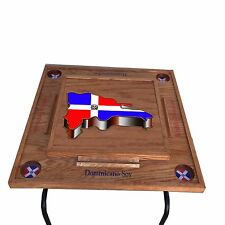 Dominican Republic Domino Table With the Mpa on -3D cherry