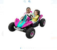 Power Wheels Barbie Dune Racer 12-Volt-Battery and Charger Seats 2 Ages 3 to 7