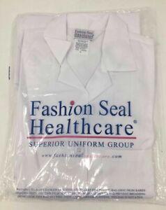 Fashion Seal Healthcare Superior Uniform Group White Lab Coat S436 Size SM/XS