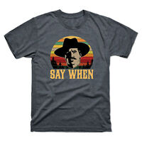Tombstone Doc Holliday Say When Retro Vintage Men's Funny Black Cotton Tee