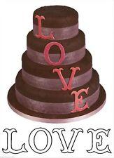 LOVE L O V E Large Letters Patchwork Sugarcraft cutters  NEXT DAY DESPATCH