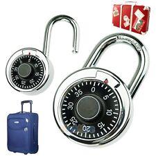 Hardened Steel Shackle Dial Combination Luggage Suitcase Locker Lock Padlock