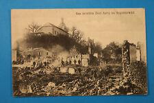 Ardennes 08 AK CPA Autry 1915 Argonnenwald Ruines Soldaten Militär Maisons WWI +
