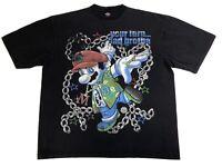Vintage Gangsta Hood Mario Bapesta Bootleg All Over Print Rap Tee T Shirt 3XL