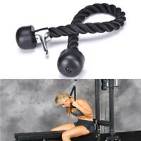 Tricep Rope Push Pull Down Press Multi Gym Bodybuilding Cable Attachment RA
