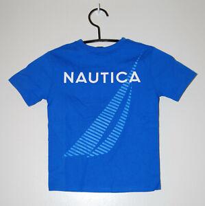NWT Nautica Little Boys Spinner Blue Sailboat Logo SS T-Shirt sz 4 5 6 7