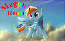 My Little Pony & Personalized Name Color Wall Sticker Wall Mural 3 FT Wide