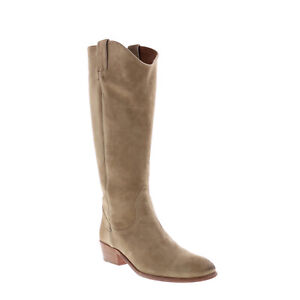 Frye Carson Pull On 70834 Womens Beige Suede Slip On Casual Dress Boots