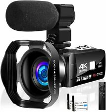 Camcorder Video Camera 4K 48MP 18X Video Camera WiFi YouTube Camera IR Night Vis