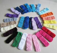 Mixed Crochet Headbands for Baby Girls Toddlers Adult Flower Bow Clips 20PCS Hot