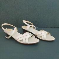 SAS size 9.5M Sandals comfort Women ankle strap Ivory